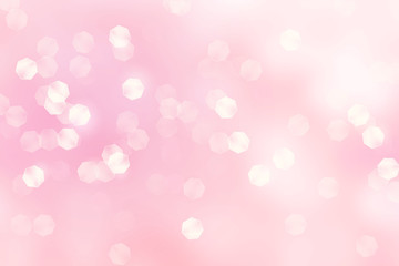Abstract bokeh on peach background