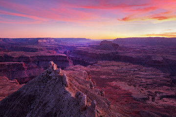 Amazing sunset at the Grand Canyon, Arizona, USA.