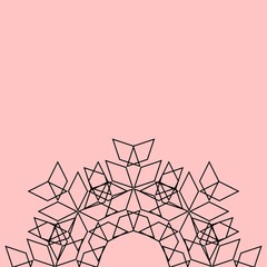 Grey print on pink vector background
