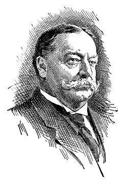 William Howard Taft, vintage illustration