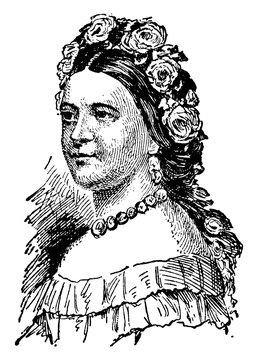 Mary Todd Lincoln, vintage illustration