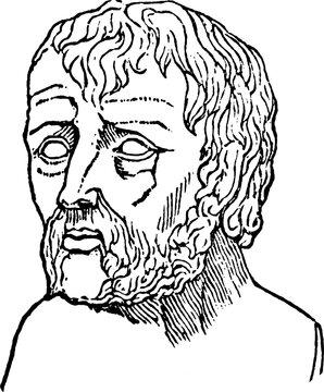 Seneca, vintage illustration