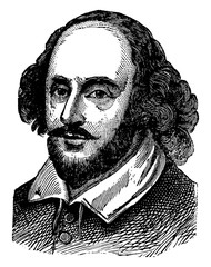 William Shakespeare, vintage illustration