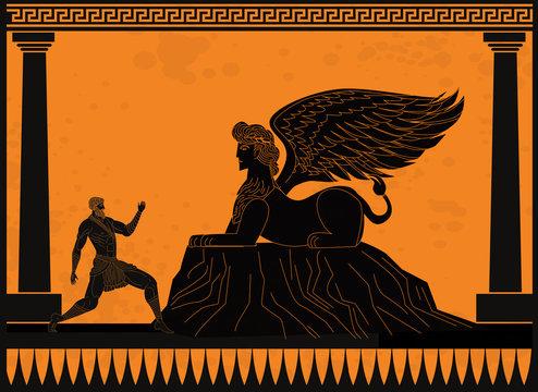 oedipus asking the sphinx riddle greek mythology tale