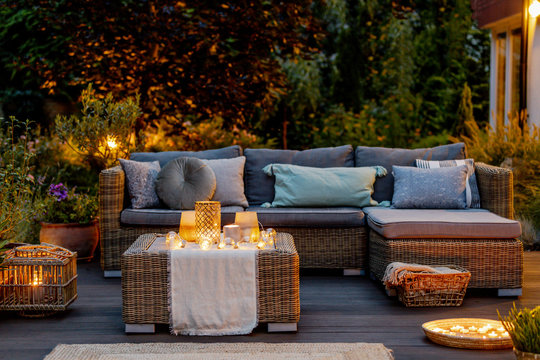 Evening on a terrace