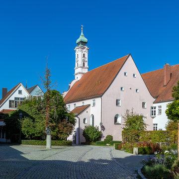 little town Aichach in Bavaria