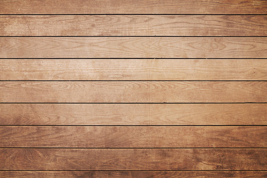 Brown painted natural wood with grains for background and texture