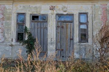 Fotomurales - Verlassene Arbeiterhäuser eines ehemaligen Ziegelwerkes in Niederösterreich