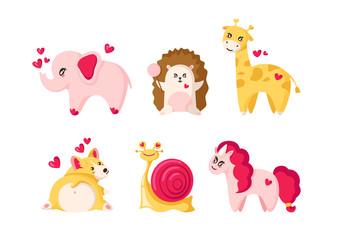 Cute cartoon valentines day
