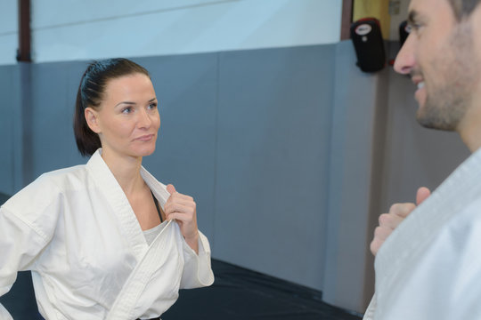 practicing the martial arts grip