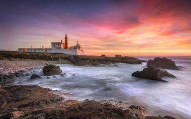Lighthouse and magic sunset