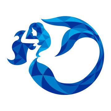 mermaid logo vector template