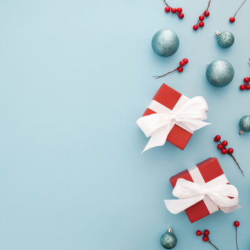 elementos de la navidad con espacio para texto