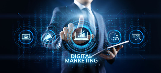 Digital marketing internet advertising and sales increase business technology concept. Wall mural