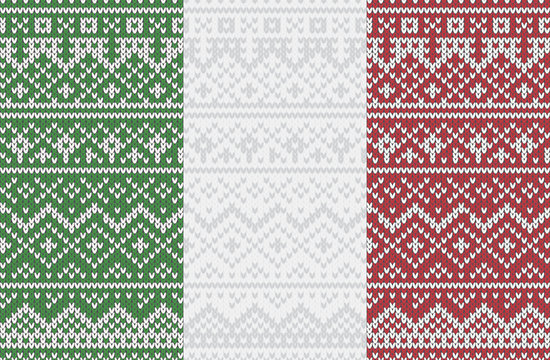 eps Vector image:Italian knit pattern