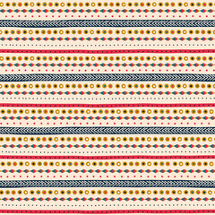 Deurstickers Boho Stijl Seamless pattern with ethnic ornamental colourful stripes