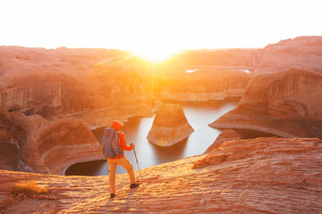 Photo sur Aluminium Arizona Reflection canyon