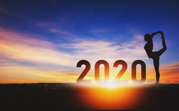 New year 2020 yoga