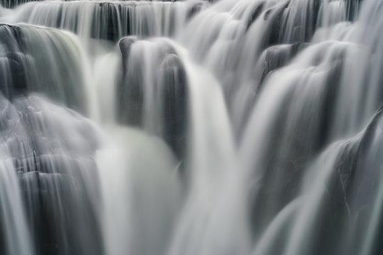 Shifen Waterfall Cascades, Pingxi, New Taipei, Taiwan. Close Up View