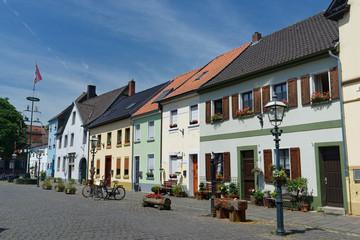 in der historischen Altstadt von Krefeld-Linn