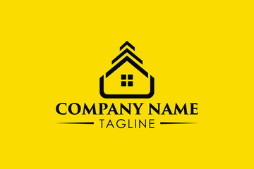 Brand New Real Estate, Home and House Logo Design.