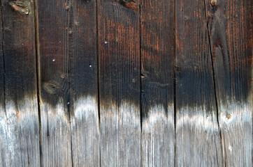 Verwitterte Holzfassade