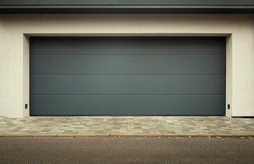 Modern car garage door panorama
