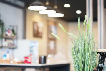 Blur image of modern Kitchen Room interior. Kitchen Room