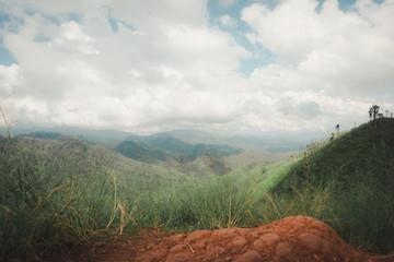 Printed kitchen splashbacks Khaki landscape mountain