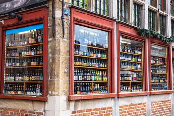 Belgian beer shop in Ghent
