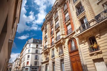 Facade of Parisian building Wall mural