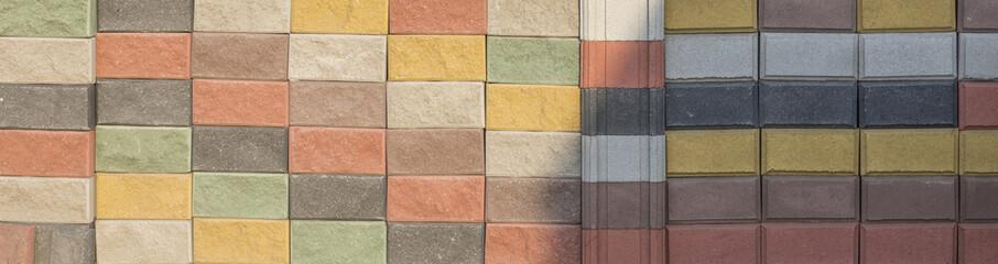 texture multicolored decorative brick wall