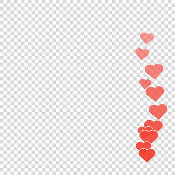 Social media likes heart for marketing design