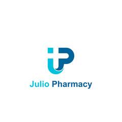 Initial letter JP logo template, creative medical logo.