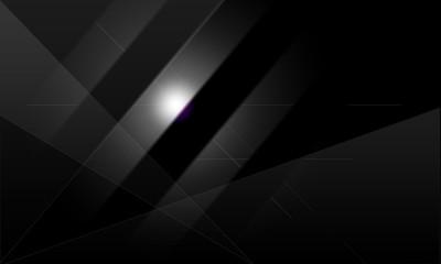 Abstrakter Hintergrund schwarz weiß mit Sterifen und Leuchteffekten
