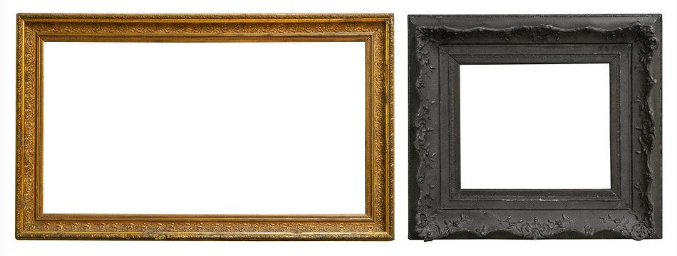 Antique gold antique picture frames