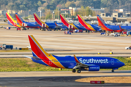 Southwest Airlines Boeing 737-700 airplanes Atlanta airport