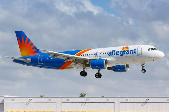Allegiant Air Airbus A320 airplane Fort Lauderdale airport