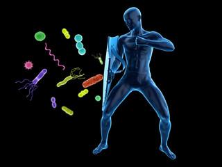3d rendered conceptual immune defense illustration