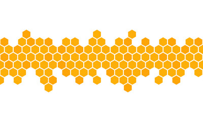 Honeycomb background. Hexagon beehive design isolated. Vector illustration