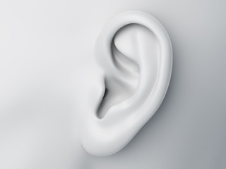 Fototapeta 3d rendered medically accurate illustration of a grey abstract female ear obraz