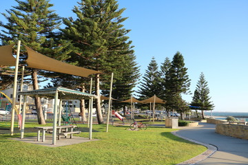 Playground by the sea in Cottesloe beach, Western Australia