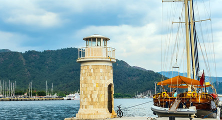 Marmaris old town Lighthouse Waterfront
