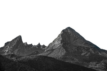 Isolated high mountain peak