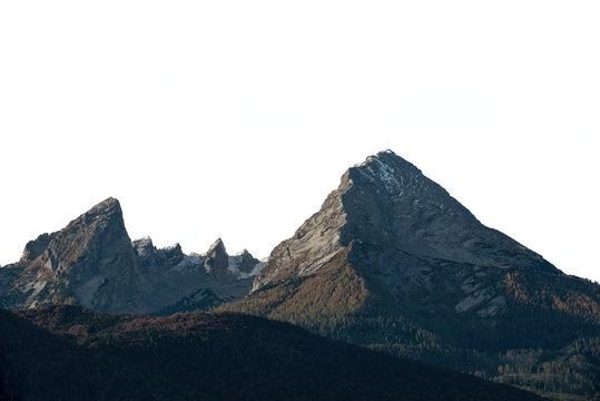 "Isolated high mountain peak ""Watzmann"" in Germany"
