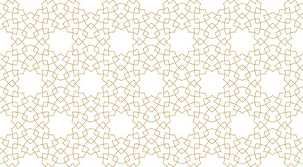 Seamless pattern background in authentic arabian style. Wall mural