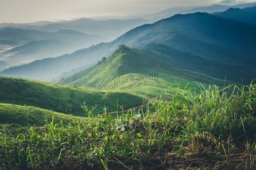 Mountain landscape of Doi Suan Ya Luang, Nan province , Thailand. Fotoväggar