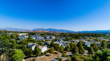 Los Angeles Suburb- Santa Clarita Aerial View