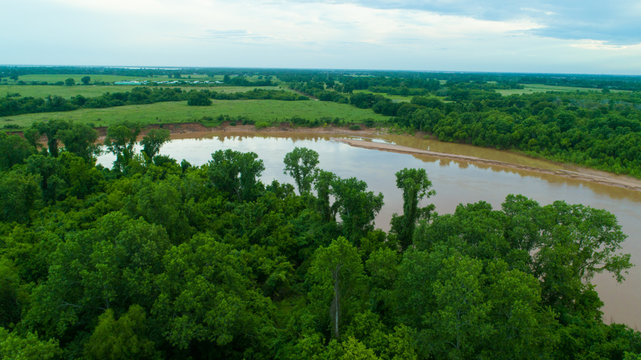 Brazos River Aerial Texas River Forest
