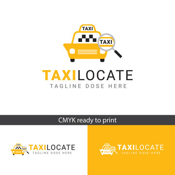 Logo TAXI Locate, for taxi businesses or applications, elegant and modern logo